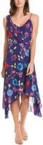 Parker Pippy Silk-Blend Midi Dress