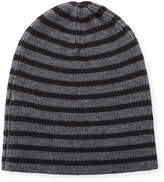 Vince Striped Wool Beanie Hat