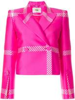 Fendi macrocheck motif blazer