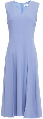 Victoria Beckham Pleated Crepe Midi Dress