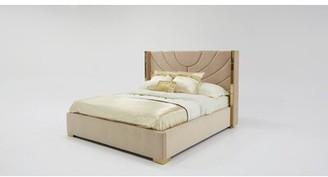 Everly Quinn Sam Modern King Upholstered Platform Bed