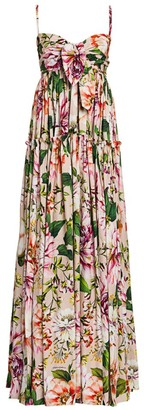 Dolce & Gabbana Poplin Floral-Print Maxi Dress
