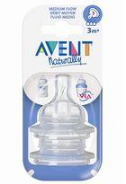 Avent Naturally medium-flow bottle nipple set