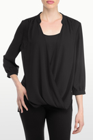 NYDJ Drape Front Blouse With Camisole