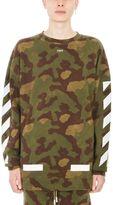 Off-White Camouflage Diag Cotton Sweatshirt