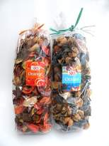 """2 Bags /Set of Variety Potpourri - Offers The Rich Scent Combined With a Colorful Blend of Floral and Other Dried Botanicals(Ocean And Orange). Each Bag w/150g Weight Size At 2.5"""" x 6.5"""")."""