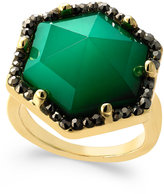 INC International Concepts Gold-Tone Green Stone Hexagon Statement Ring, Only at Macy's