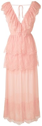 Nk Gabrielle ruffled lace gown