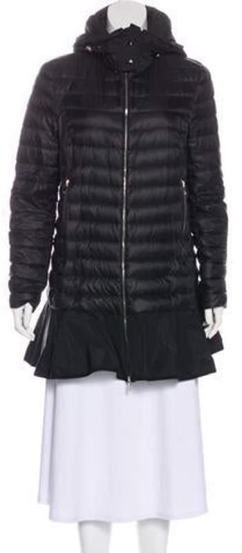 39924371f Flared Down Coat Black Flared Down Coat