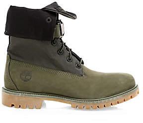 Timberland Men's Premium Gaiter Leather & Canvas Combat Boots