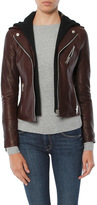 Doma Moto Leather Jacket With Detachable Hood