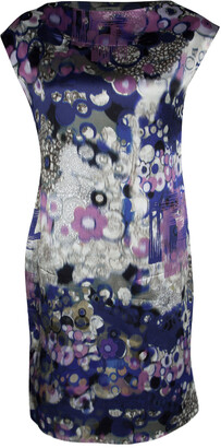 Erdem Multicolor Digital Printed Silk Sleeveless Dress M