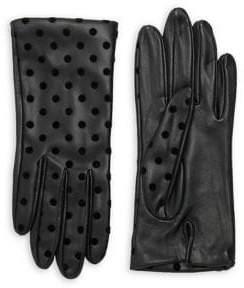 Lord & Taylor Women's Polka Dot Gloves