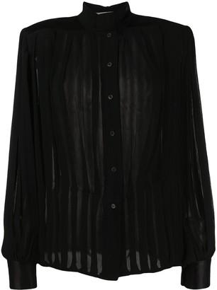 Gianfranco Ferré Pre-Owned 1980s Sheer Tie-Neck Shirt
