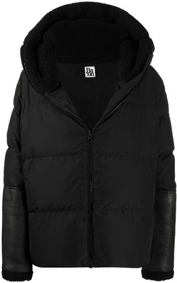 Bacon Contrast Panel Detail Padded Jacket