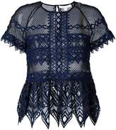 Jonathan Simkhai cut-off detailing sheer blouse