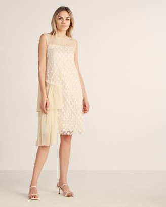 Ottod'ame Illusion Neck Sleeveless Lace Dress