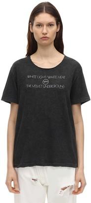 R 13 Velvet Underground Print T-shirt