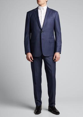 Giorgio Armani Men's Two-Piece Plaid Suit