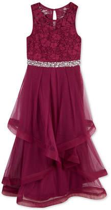 Speechless Big Girls Glitter Lace Maxi Dress, a Macy Exclusive Style