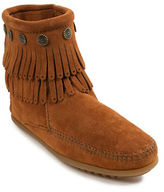 Minnetonka Double Fringed Suede Ankle Boots
