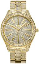 JBW Women's Crystal Diamond 18K Gold-Plated Stainless Steel Watch, 39mm