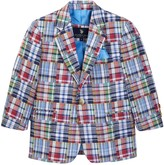 U.S. Polo Assn. Madras 2-Button Blazer (Little Boys & Big Boys)