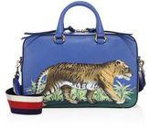 Gucci Tiger-Print Leather Top-Handle Bag