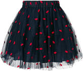 P.A.R.O.S.H. lips print skirt
