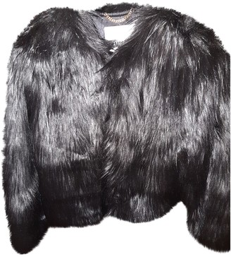 Moschino For H&m Black Faux fur Coat for Women