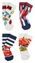 Disney Pixar 4 Pair Pack of Cars 3 Socks, Kids Unisex