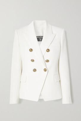 Balmain Double-breasted Wool Blazer - Cream