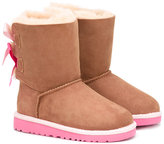 UGG Bailey Bow boots - kids - Suede/Leather/Polyester/rubber - 22