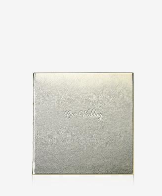 GiGi New York Wedding Journal, White Gold Metallics Leather