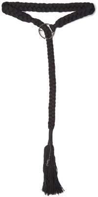 Saint Laurent Braided Tassel Trimmed Belt - Womens - Black