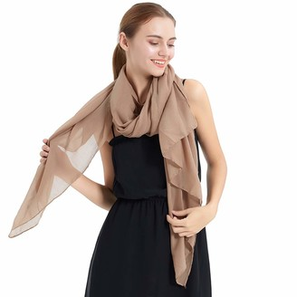 KAVINGKALY Cotton Hijabs For Women Solid Color Scarfs Large Shawls And Wraps For Evening Dresses(Beige)