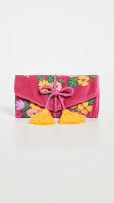 Shopbop @Home Floral Embroidered Jewelry Roll