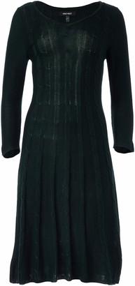 Nine West Women's V-Neck Fit &Flare Cable Dress