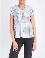 Ulla Johnson Eugenie striped cotton-gauze blouse