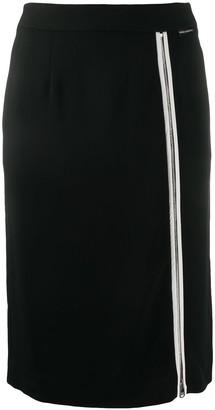 Karl Lagerfeld Paris Front Zip-Detail Skirt