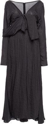 Prada Tie-Detailed Chiffon Midi Dress