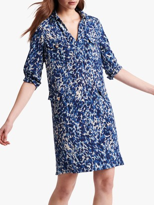 Gerard Darel Solange Silk Print Dress, Blue