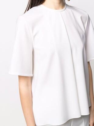 Maison Rabih Kayrouz front-pleat wool T-shirt