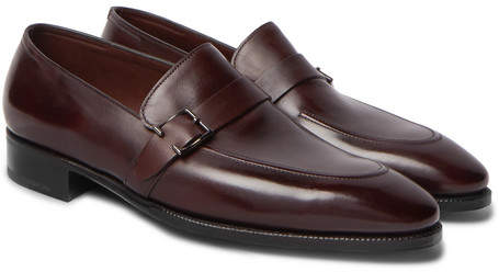 John Lobb Alwyn Leather Loafers - Men - Burgundy