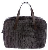 Brunello Cucinelli Sheared Fur Handle Tote