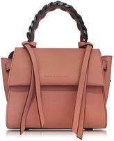 Elena Ghisellini Mini Angel Sensua Blush Leather Satchel Bag