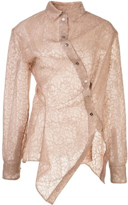 Y/Project Sheer Floral Lace Shirt