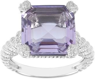 Judith Ripka Sterling 4.50-Carat Amethyst Montana Ring