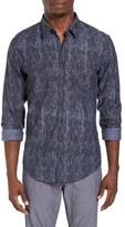 BOSS ORANGE Men's Edoslim Print Chambray Shirt