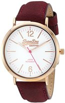 Superdry Women's 'Oxford' Quartz Brass-Plated-Stainless-Steel and Leather Dress Watch, Color:Purple (Model: SYL194V)